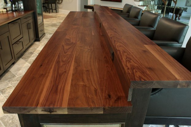 Walnut Raised Bar San Diego - The Countertop Company